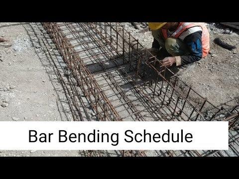 Bar Bending Schedule of Box Culvert in Excel   Estimate of