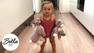 Birdie DANCES and SPINS with her stuffed animals!