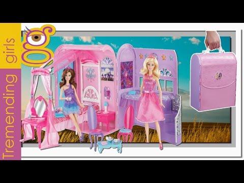 Barbie Casa Pop star - Maletín Habitación Princesas - juguetes barbie en español toys - Barbie house