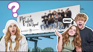 SURPRISING My BOYFRIEND With a GIANT Billboard to See How He REACTS **Emotional**🎉| Piper Rockelle