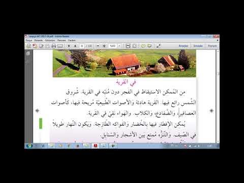 Emet Yunus Emre İho Arapça 7 Köy Hayatı