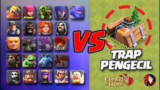 Semua Troops vs Jebakan Pengecil! | Pasukan CoC Jadi Imut!