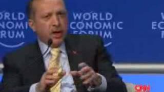 """Erdogan ve Shimon Peres """"Davos"""" Eklat / Konusmasi / Auf DEUTSCH"""