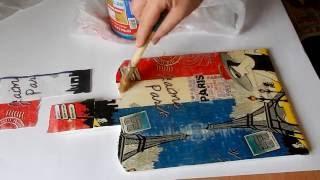 ДЕКУПАЖ из салфетки  на ДЕРЕВЕ декупаж салфетками мастер класс(, 2016-06-16T12:08:17.000Z)