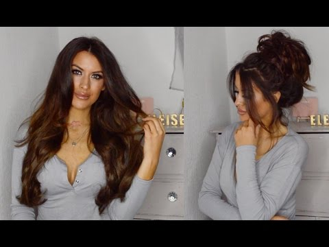 LULLABELLZ : 5 MINUTE HAIR - GLAM WAVES + MESSY BUN