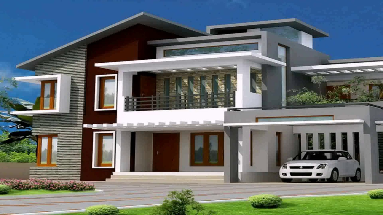 Modern Bungalow House Plans In India - YouTube