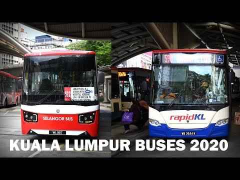 Buses in Kuala Lumpur, Malaysia 2020 [4K]