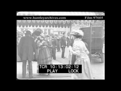 1915 British Society Wedding.  Archive film 97605