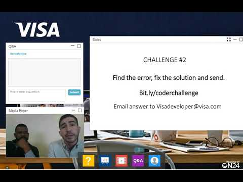 Webinar – Getting Started with Visa Developer – Visa Coder Series
