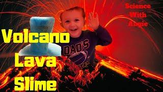 Volcano Lava Slime | Toddler, Preschool Science Experiments | Bestie Mom Club
