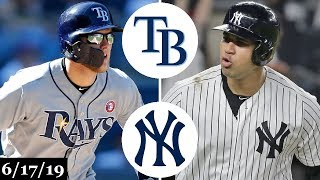 Tampa Bay Rays vs New York Yankees - Full Game Highlights | June 17, 2019 | 2019 MLB Season