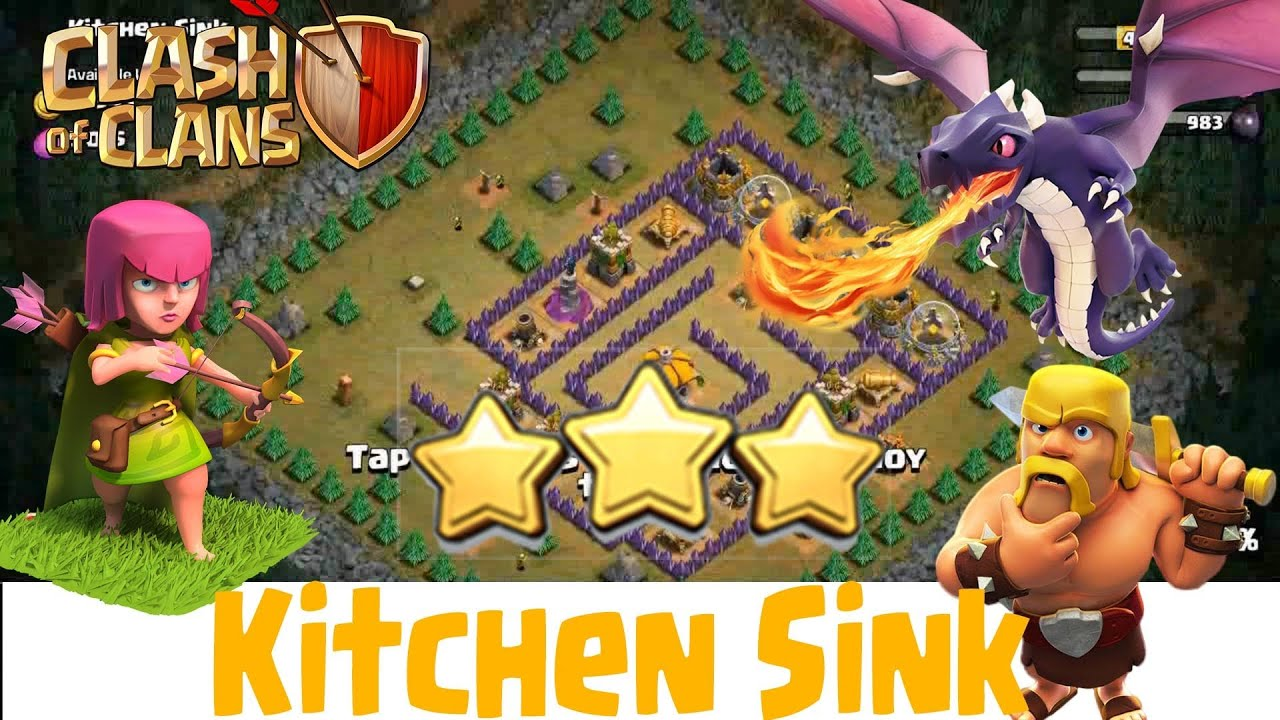 kitchen sink coc the best way how to defeat kitchen sink clash of clans 2627