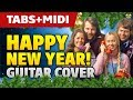 ABBA – Happy New Year (acoustic fingerstyle guitar cover and MIDI by Kaminari)