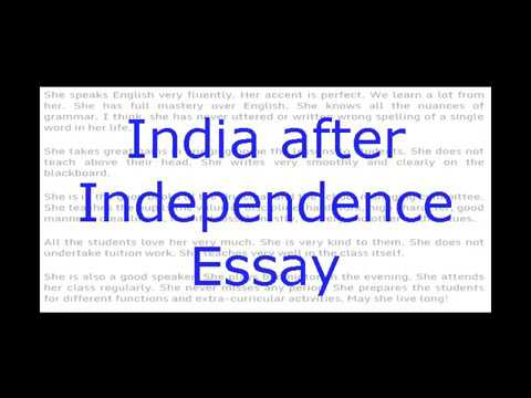 Essay On India After Independence English Essay For Class   Essay On India After Independence English Essay For Class  And  Examples Of A Thesis Statement For An Essay also Research Essay Proposal Template  Universal Health Care Essay