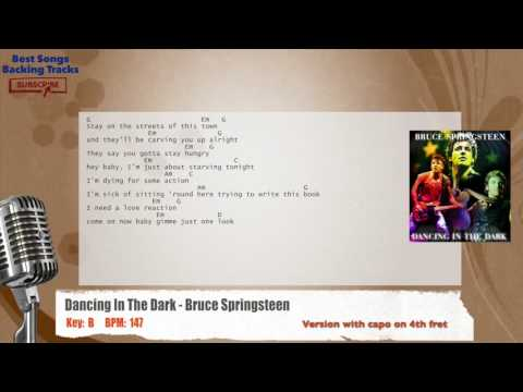 Dancing In The Dark - Bruce Springsteen Vocal Backing Track with chords and lyrics