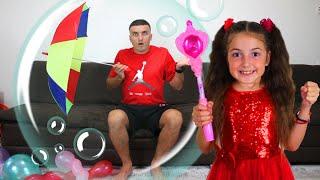 Masha and Vania Pretend Play Fun with Magic Wand Hairbrush