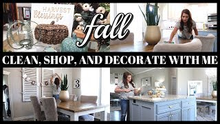 FALL CLEAN WITH ME | FALL DECOR SHOP WITH ME | FALL DECORATE WITH ME