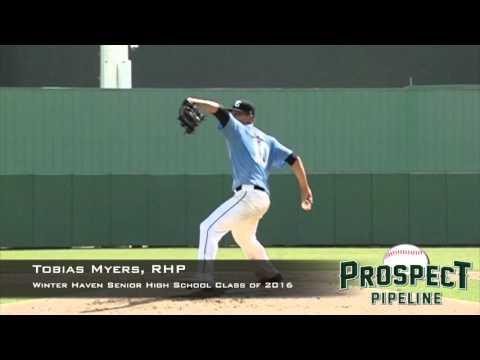 Tobias Myers, RHP, Winter Haven Senior High School, Pitching Mechanics at 200 FPS