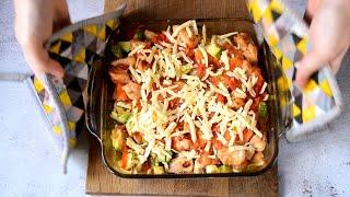 Кабачки с курицей в духовке Запеканка из кабачков с куриным филе