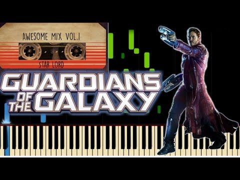 REDBONE - COME AND GET YOUR  LOVE - GUARDIANS OF THE GALAXY  Piano Cover  Synthesia