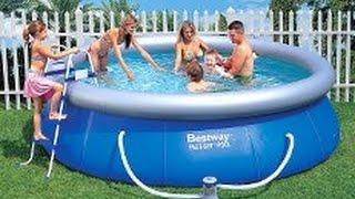 Надувной бассейн Bestway.(Надувной бассейн от фирмы Bestway. Размер 366 x 91 см., 2015-07-16T09:11:30.000Z)