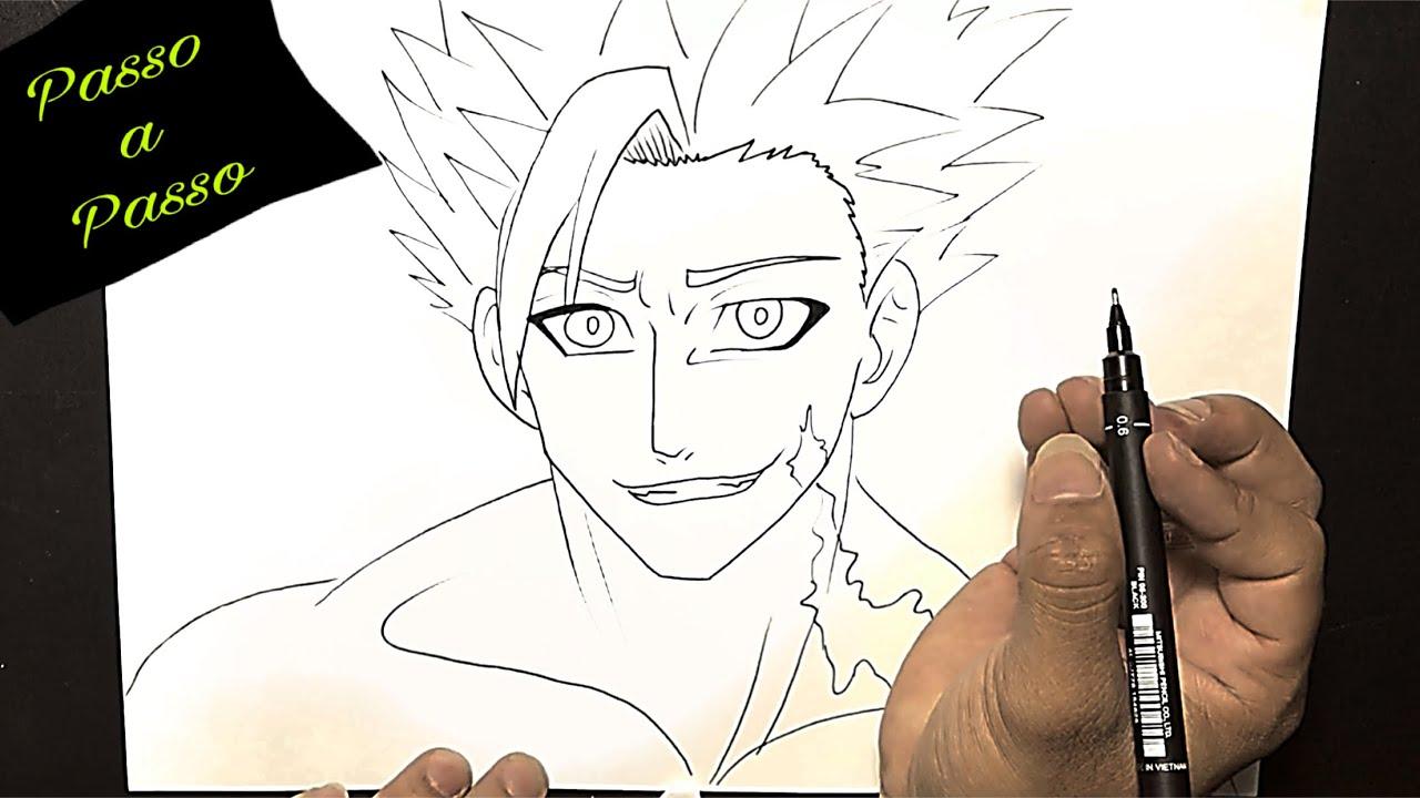 Como Desenhar O Ban De Nanatsu No Taizai Passo A Passo Youtube