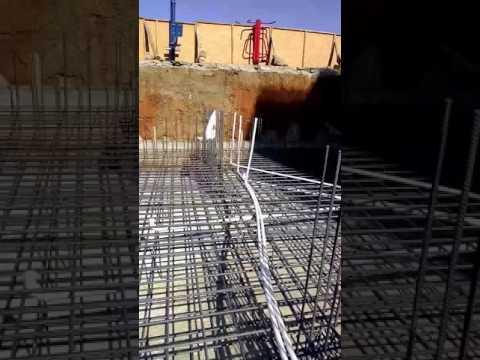 Delta inşaatın temel içi döşenen boru tesisatı