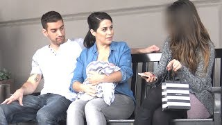 NURSING BABY vs PRETTY GIRL (Social Experiment)