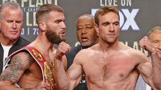 Caleb Plant vs. Mike Lee FULL WEIGH IN & FINAL FACE OFF | Las Vegas Boxing