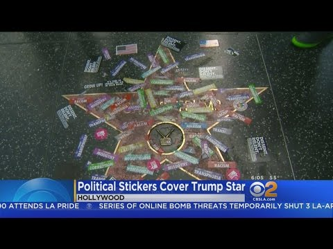 Trump's Star On Hollywood Walk Of Fame Vandalized Again