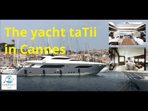 The US$ 10,000,000 yacht taTii i entering Cannes' Vieux Port