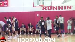 Team USA Basketball Training Camp 2016 Day 2 Scrimmage. Rio 2016 Olympic Games