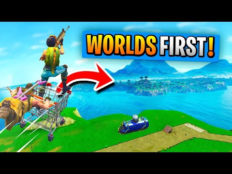 WORLD'S 1st SPAWN ISLAND AND *BACK* TRIP In Fortnite Battle Royale!