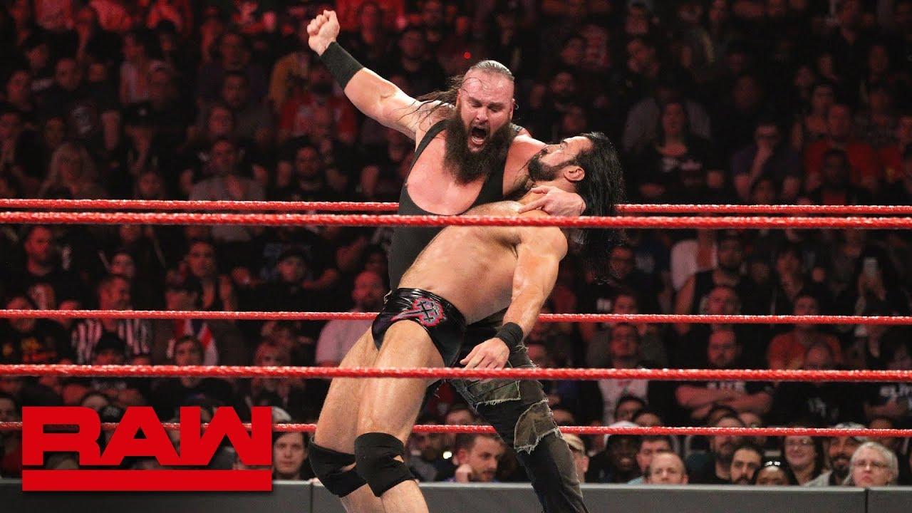 Braun Strowman vs. Drew McIntyre: Raw, Jan. 28, 2019