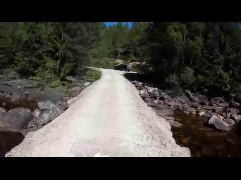 Road to Jettegrytene Nissedal-Telemark, Norway