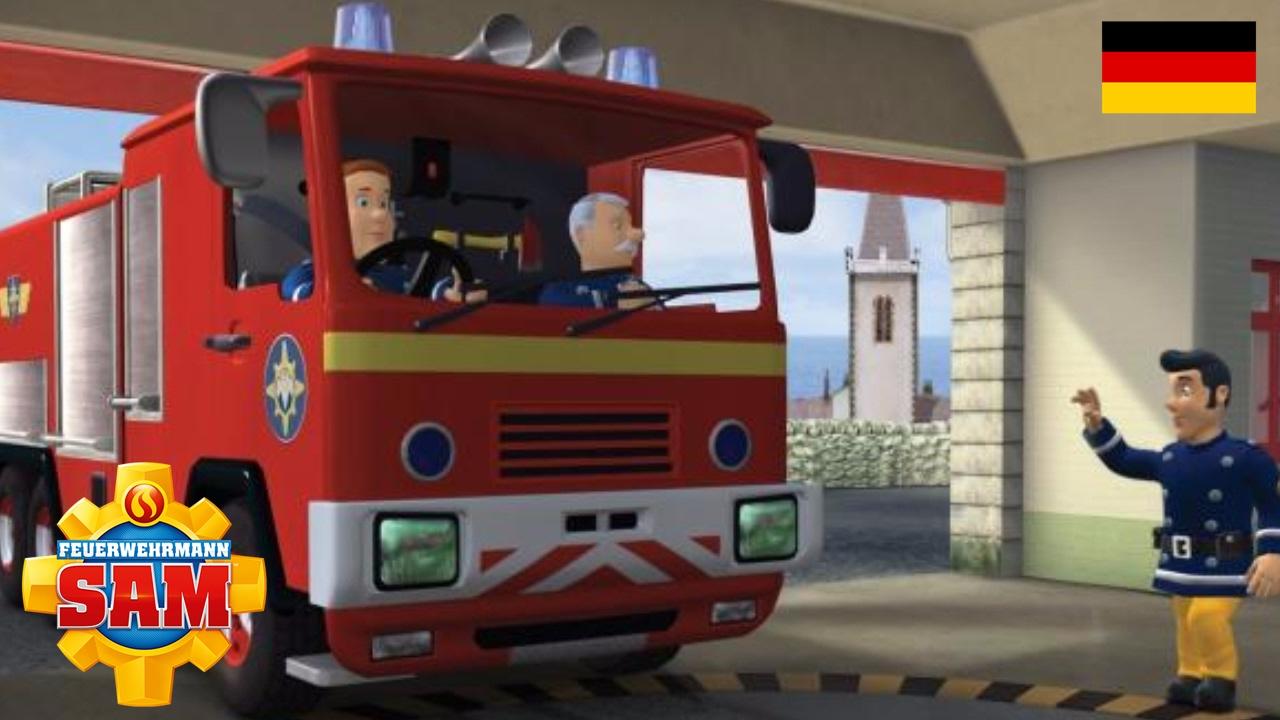 Feuerwehrmann sam feuer in der feuerwache cartoons f r kinder youtube - Feuerwehrmann sam wandbild ...