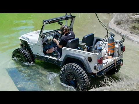 Thumbnail: Diesel Jeep Drives 12 Feet Underwater! - Dirt Every Day Ep. 54