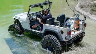 Diesel Jeep Drives 12 Feet Underwater! - Dirt Every Day Ep. 54(Fred's 1997 Jeep Wrangler TJ affectionately known as Tubesock was in need of a new engine, and Fred wanted to recreate a crazy stunt from the 50's by driving ..., 2016-08-30T10:30:01.000Z)