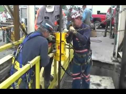 Kirkpatrick Wire Rope Lubrication Systems Model JU16L: Mine Hoist: Indiana, USA