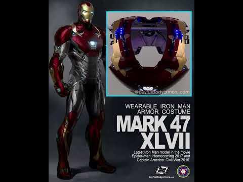 Iron Man Mark 46 47 Progress Chest Painted Motorized Oc