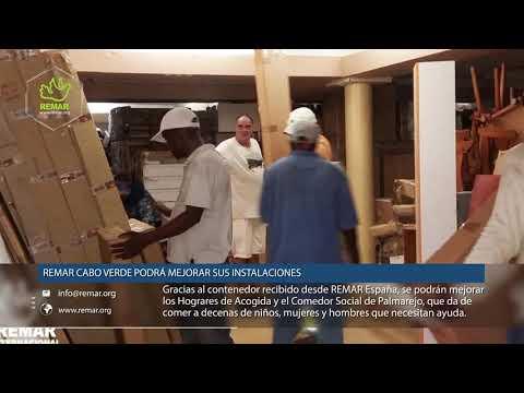 Remar Cabo Verde - Recibe contenedor de ayuda desde Canarias