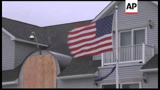 Hurricane Sandy is hundreds of miles from New Jersey, but high winds, rough surf and coastal floodin