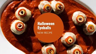 Halloween Beef Meatball Appetizer