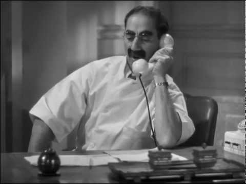 """Dr. Hackenbush Stalls Mr. Whitmore - Phone Prank - The Marx Brothers in """"A Day at the Races"""""""