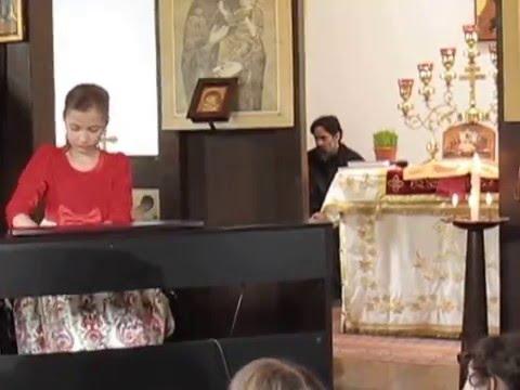 "Maria Alice POENARIU -Easter Recital at ""Holy Trinity"" Greek-Catholic Monastery, Giroc, Romania"