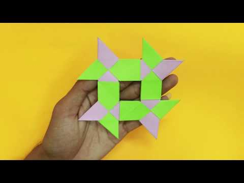 How to make an Origami Fence of the house, Paper Origami Fence of the house, Easy making Origami Fen