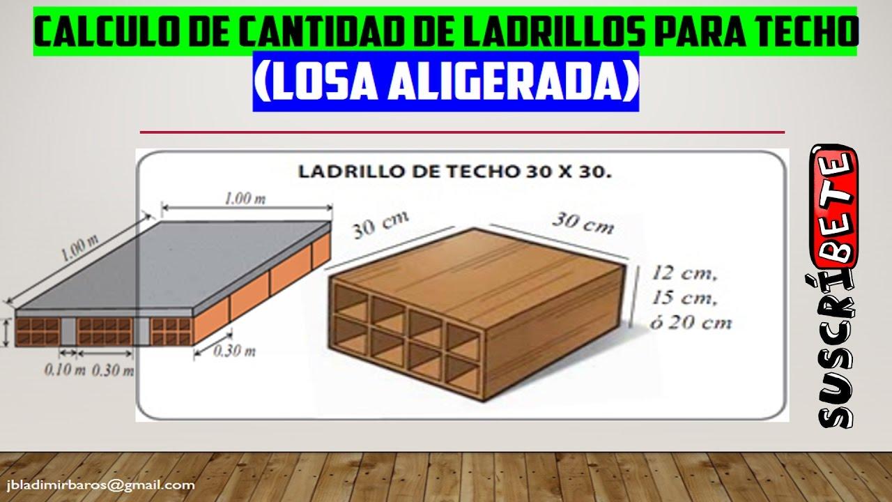 Calculo de cantidad de ladrillo de techo losa aligerada for Losa techo