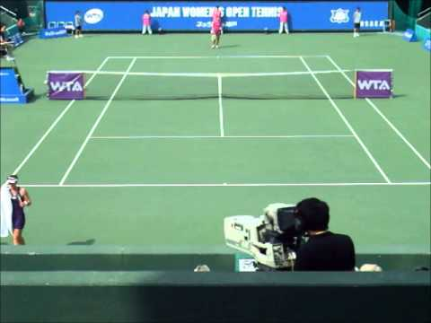 ■ JAPAN WOMEN'S OPEN TENNIS 2014 ■ Samantha STOSUR VS Zarina DIYAS part2