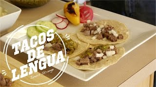 Tacos De Lengua Recipe Cooked In The Pressure Cooker / English Subtitles