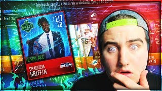 WE PULLED SHAQUEEM GRIFFIN! ONLY ONE HAND?! 124 OVERALL! Madden Mobile 18